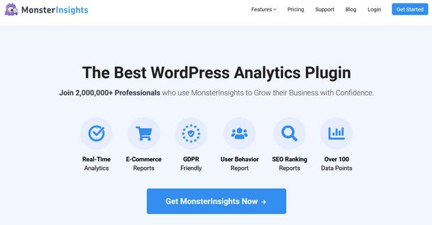 monsterinsights analytics plugin