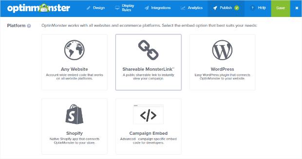 select publishing platform