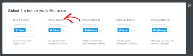 select follow button