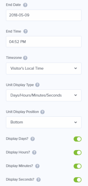enter the time and date settings