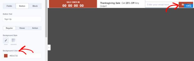 design the countdown button