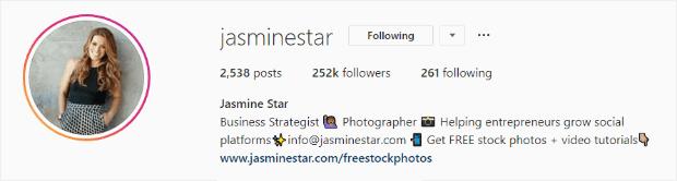 instagram bio with cta