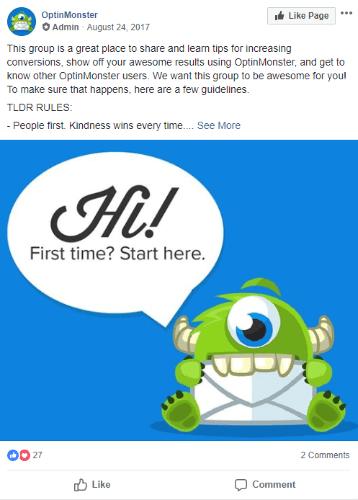 optinmonster facebook group