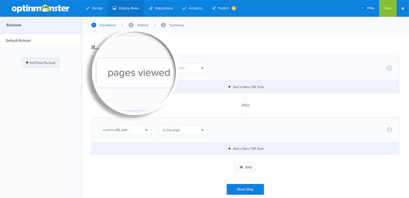 Pages Viewed Condition