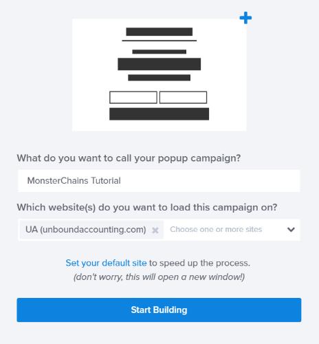 start building monsterchains campaign