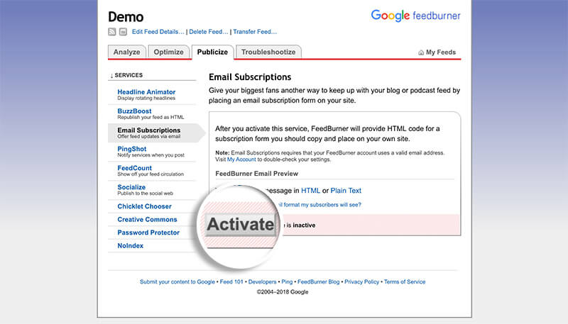 Activate Email Subscriptions