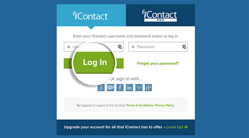 Log In to iContact