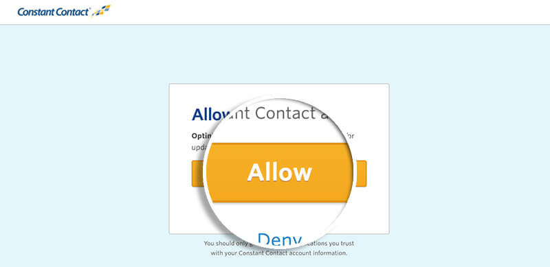 Constant Contact Allow
