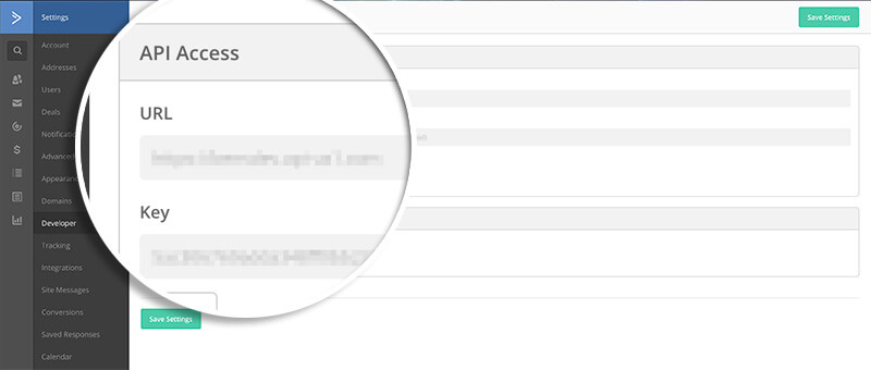 ActiveCampaign Copy API URL and Key