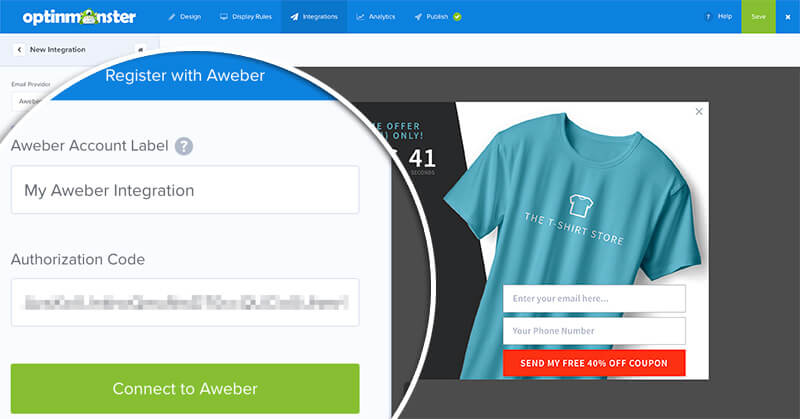 Register with Aweber
