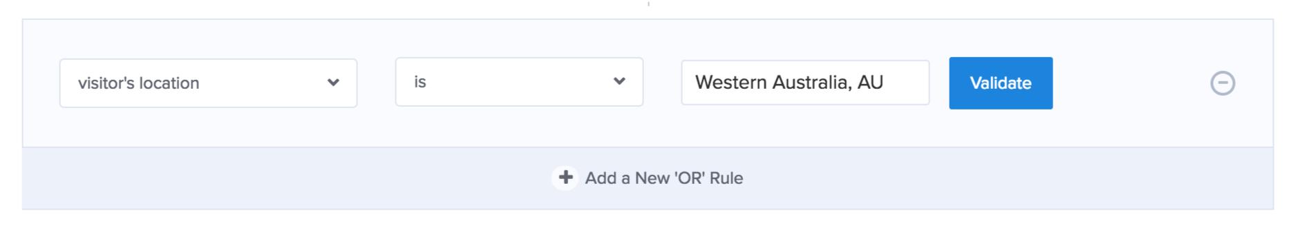 Inbound Marketing OptinMonster geolocation to qualify visitors.