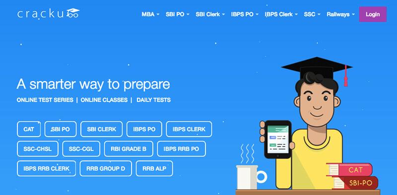Cracku offers digital test preparation.