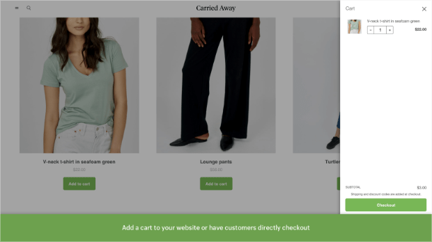 but button sales channel screenshot
