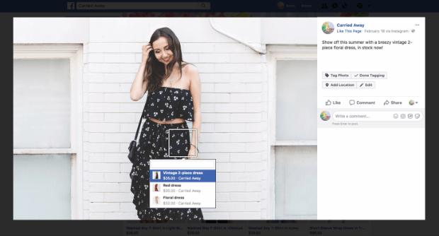 facebook sales channel desktop view