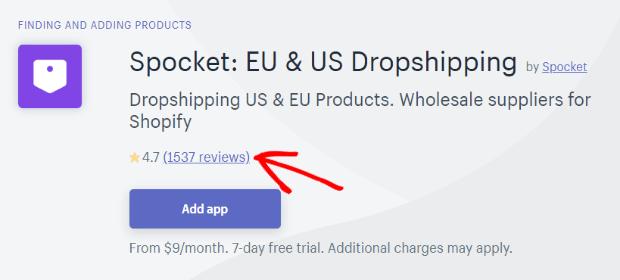 spocket shopify app reviews