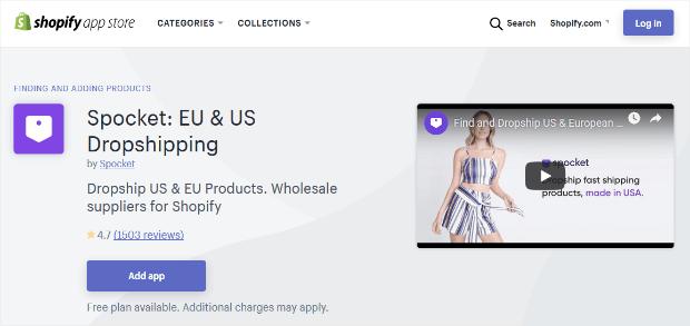 spocket dropship shopify app