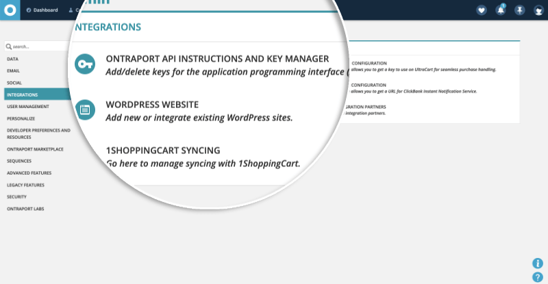 Ontraport Key Manager