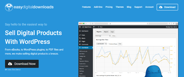 easy digital downloads makes it easy to sell your digital products with wordpress
