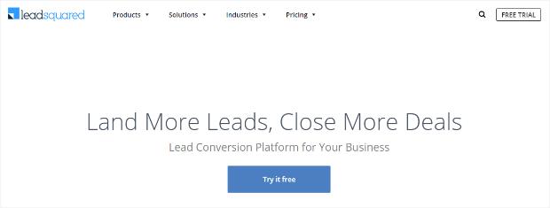 leadsquared lead conversion platform