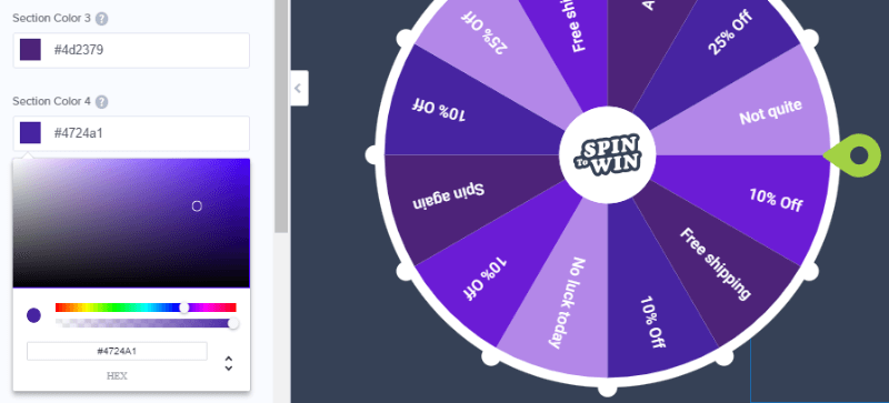 all 3 wheel templates are fully customizable - change the color to whatever you want