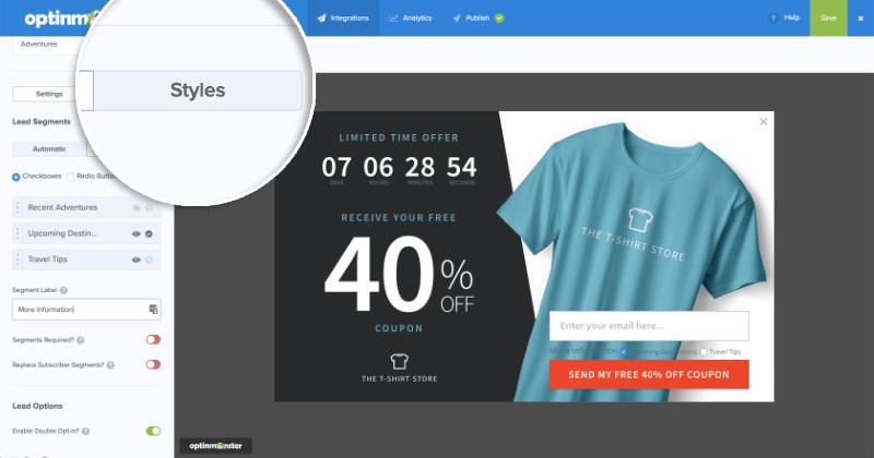 MailChimp Lead Segments User Input Styles