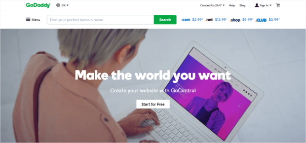 godaddy offers basic service for simple site hosting solutions