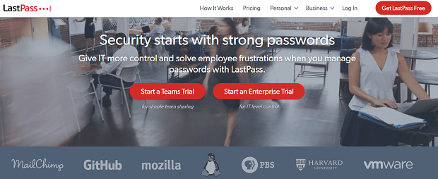 social media security tools - lastpass