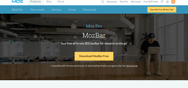 MozBar Google Chrome Plugin