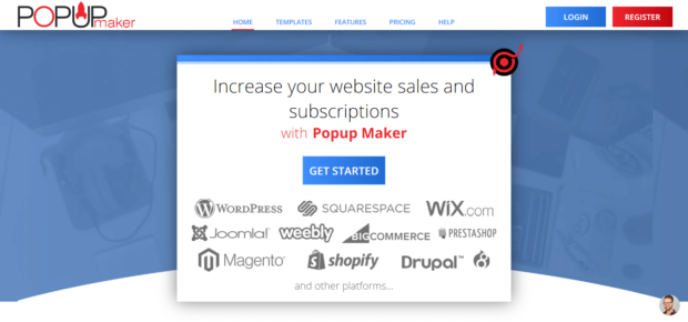 supported popup maker websites
