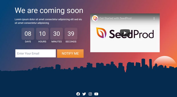 seedprod coming soon page example