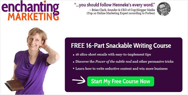 landing page email optin - enchanting marketing
