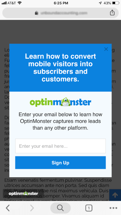 mobile campaign example
