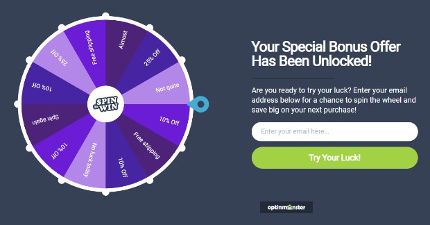 optinmonster coupon wheel optin