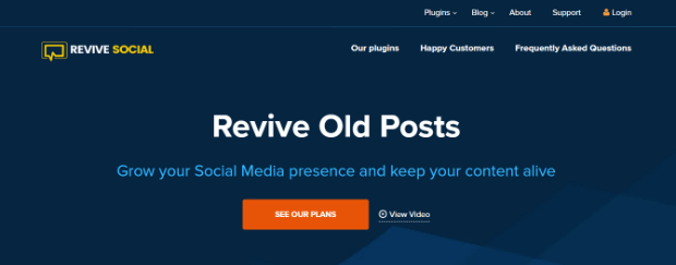 revive old posts by revive social