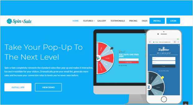 spin a sale gamified popups