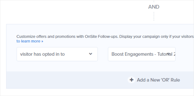 add another display rule to engage only visitors who've downloaded a specific lead magnet from you