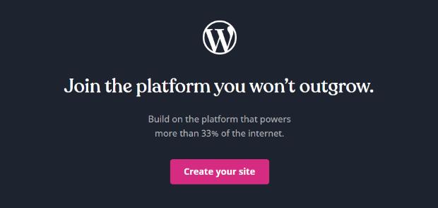 wordpress.com social proof example