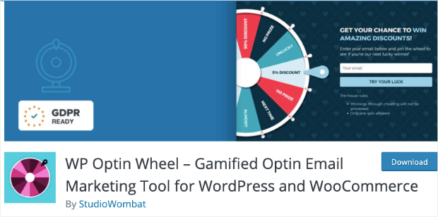 wpoptinwheel discount wheel plugin