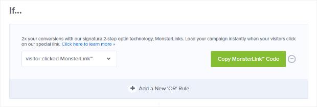 add monsterlink display rules