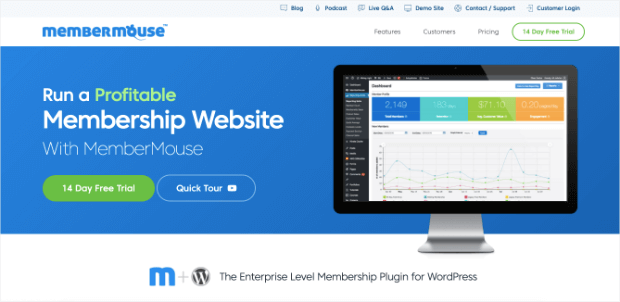 membermouse homepage