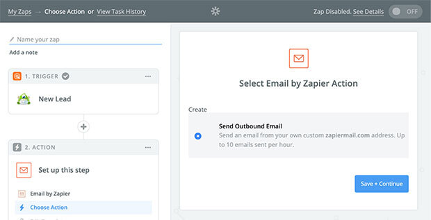 Zapier Send Outbound Email Action