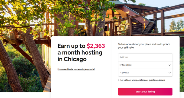landing page headline from airbnb