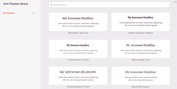 use font pairings for landing page design