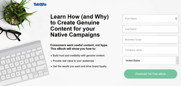 focus landing page on one idea