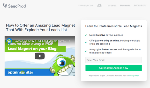 add video to your landing page design