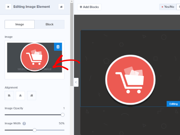 select to replace image