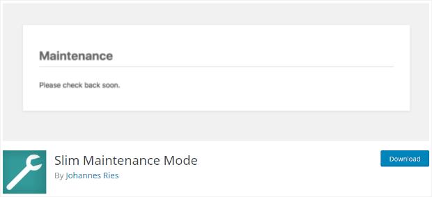 slim maintenance mode plugin