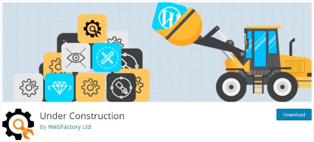 under construction maintenance mode plugin