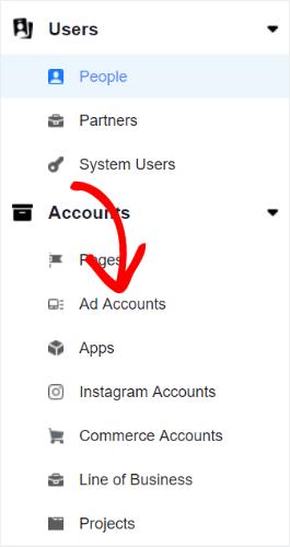 business settings menu