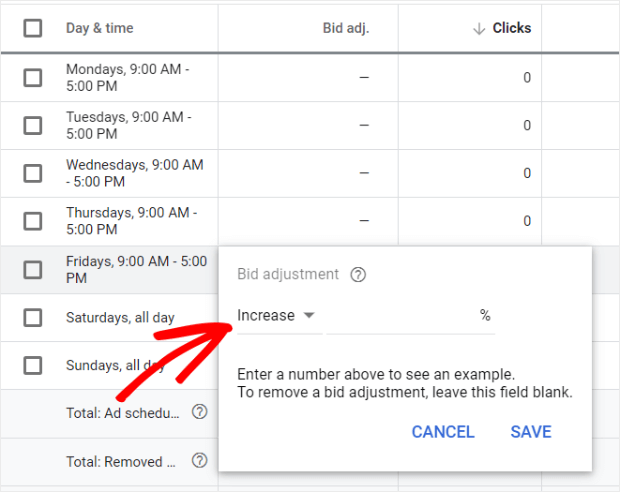 how to do a bid adjustment in google ads